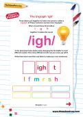 The trigraph 'igh' worksheet