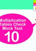 Multiplication Tables Practice Check 10