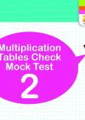 Multiplication Tables Practice Check 2
