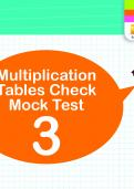 Multiplication Tables Practice Check 3