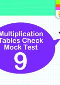Multiplication Tables Practice Check 9