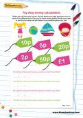 Money calculations worksheet