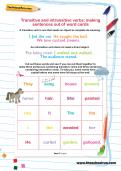Transitive and intransitive verbs: making sentences out of word cards