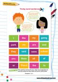 Tricky word sentences