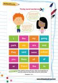 Tricky word sentences