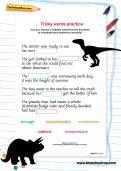 Tricky words practice worksheet