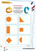 Turning shapes worksheet