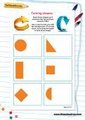Turning shapes worksheet