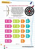 Two-digit place value arrow cards
