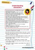 Understanding characters worksheet