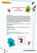 Upper and lower case letters matching game