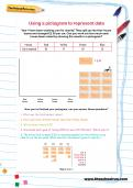 Using a pictogram to represent data worksheet