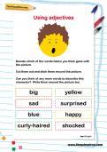 Using adjectives worksheet