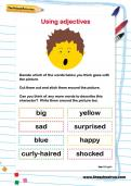 Using adjectives worksheet
