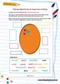 Using adjectives to improve writing worksheet
