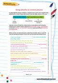 Using adverbs to connect clauses worksheet