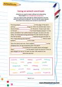 Using an adverb word bank