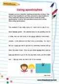 Using apostrophes worksheet