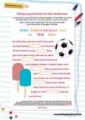 Using conjunctions to link sentences worksheet