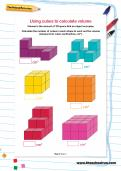 Using cubes to calculate volume worksheet