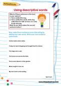 Using descriptive words worksheet