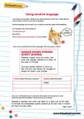 Using emotive language worksheet