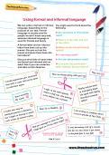 Using formal and informal language worksheet