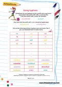 Using hyphens worksheet