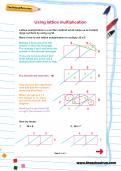 Using lattice multiplication worksheet