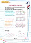 Using lattice multiplication worksheet