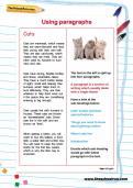 Using paragraphs worksheet