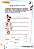 Using powerful verbs worksheet
