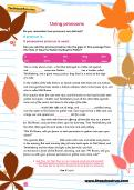 Using pronouns worksheet