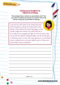 Using punctuation to improve writing worksheet