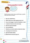 Using question marks worksheet