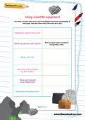 Using scientific equipment worksheet