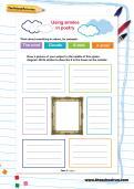 Using similes in poetry worksheet