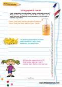 Using speech marks worksheet