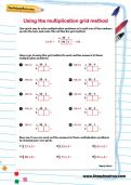Using the multiplication grid method worksheet