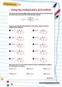 Using the multiplication grid method worksheet