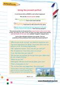 Using the present perfect worksheet