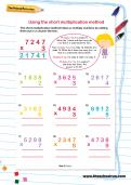 Using the short multiplication method worksheet