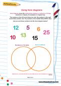Using Venn diagrams worksheet