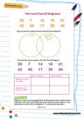 Venn and Carroll diagrams worksheet