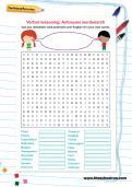 Verbal reasoning: Antonyms wordsearch