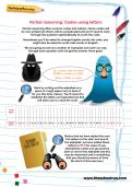 Verbal reasoning worksheet: Codes using letters