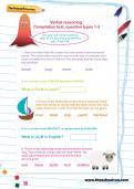 Verbal reasoning: Compilation test