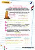 Verbal reasoning worksheet: Finding a missing three-letter word