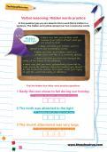 Verbal reasoning worksheet: Hidden words practice