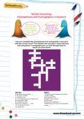Verbal reasoning: Homophones and homographs crossword